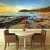azutura Toskana Strand Sonnenuntergang Wandbild Landschaft Italien Foto-Tapete Seelandschaft Dekor Erhältlich in 8 Größen Extraklein Digital
