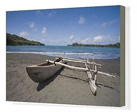 Canvas Print of Outrigger canoe