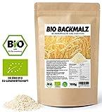 Backmalz 100% Bio Malz | 100% Gerste Gerstenmalz Backmalz für Brot und Brötchen | enzymaktives und...