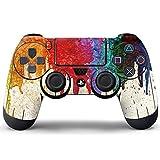 Pandaren Aufkleber Faceplates Sticker Skin Haut für PS4 controller x 1 (nass Graffiti)