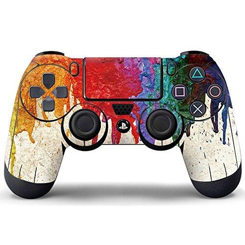 Pandaren® Aufkleber Faceplates Sticker Skin Haut für PS4 controller x 1 (nass Graffiti)