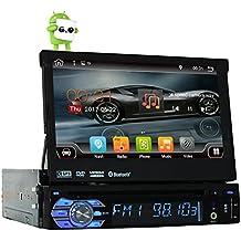 "De cuatro núcleos Android 6.0 Individual 1 DIN 7"" universal con pantalla táctil de coches reproductor de DVD Autoradio con GPS Navi Bluetooth estéreo de radio Auto Car Audio BT USB WIFI SD 2G RAM + 16G ROM mapa gratuito"