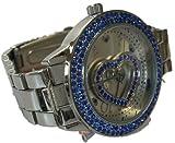 Paris Hilton Silber Edelstahl Blau Fall Herz Fashion Watch bph10044/208