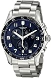 Victorinox Swiss Army Mens Classic Stainless Steel Blue Dial Chrono 241652