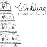 Hochzeits-Danksagungskarten, 6 Stück mit Umschlägen, &Flowers &Ringe