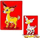 WWUUOOPRT Mehr Spaß Kids Educational Puzzle Spielzeug Kreatives hölzernes pädagogisches Puzzlespiel-frühes Lernen-Spielzeug Fantastische Geschenke für Kinder (Rotwild)