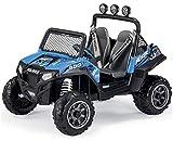 Kinder Elektro-Jeep Polaris Ranger RZR 900 in Blau, Zweisitzer, Elektro Auto Elektroauto Kinderauto