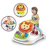 LULU Kinderwagen Walker Baby-Esstisch Spieltisch Multifunktions-4-in-One Kinderwagen 0-3 Jahre alt Kinderspielzeug