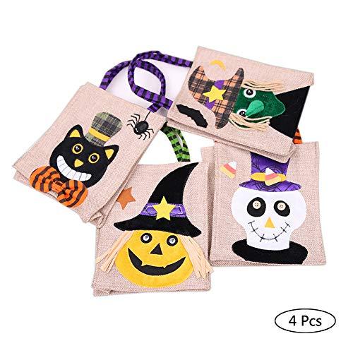 SJZC Halloween Süßigkeiten Taschen Sackleinen Kinder Candy Bag Kürbis Tasche Für Party