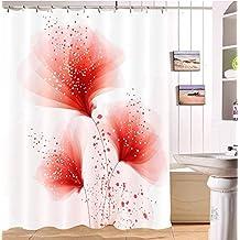 Amazon.fr : rideau douche rouge