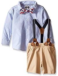 Mud Pie Baby Boys' Suspender 2-Piece Short Set