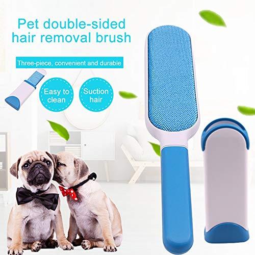 Bürsten Tierhaarentfernungsbürste - Hundekatzenhaarentferner mit selbstreinigender Basis - Effizientes doppelseitiges Tierhaarentfernungswerkzeug - Perfekt for Kleidung, Möbel, Couch, Teppich -