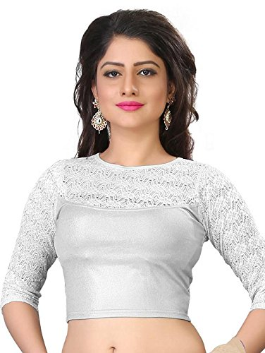 PRE SMART SILVER READY MADE STRETCHABLE STITCHED BLOUSES