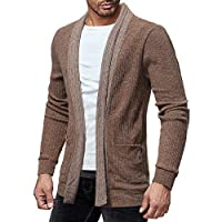 Oberbekleidung Herren LSAltd Men Fashion Langarm Strickjacke Soft Warm Pullover Casual Slim Fit Jacke Tunika Mantel mit Tasche