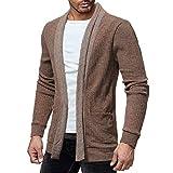 SANFASHION Pullover Tricot Sweat-Shirt Blouson Knit Cardigan Veste en Maille...