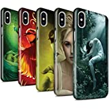 Offiziell Elena Dudina Hülle / Glanz Snap-On Case für Apple iPhone X/10 / Pack 18pcs Muster / Die Vögel Kollektion