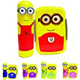 Kieana Tiffin For Kids, Lunch Boxes For Children, Minion Printed Designer Animated Tifin Box Specially Designed For School Going Boys And Girls (pack Of 3)