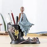 Powzz ornament Pottery, Home Decoration, Ornaments, Zen Buddhist Monks, Penholder Living Room Office Characters, Modern Minimalist, 17*20Cm,Jing Zen Pen - Monkey King