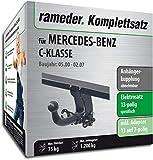 Rameder Komplettsatz, Anhängerkupplung abnehmbar + 13pol Elektrik für Mercedes-Benz C-KLASSE (113620-04640-1)