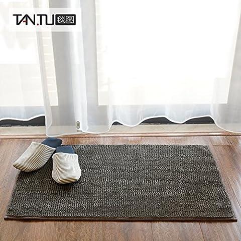 FQG*esterillas wc baño Rutschfeste mate hidratación dormitorio, cocina, cuarto de baño puerta mat colchones ,40cm x 120cm, Carbon