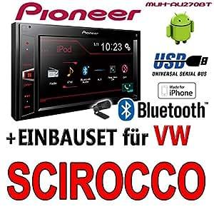 Volkswagen scirocco 3–pioneer mVH-aV270BT - 2DIN autoradio multimédia avec bluetooth et sans cD