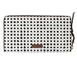 Fossil Geldbörse Caroline RFID Large Zip Around Wallet Weiß Schwarz Punkte Damen Portemonnaie Börse SL7594-125