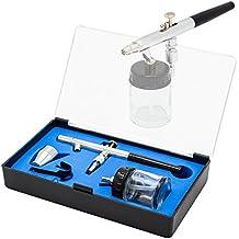 BD de 128p Pistola de aerografía doble acción aerógrafo pistola de boquilla & Aguja 0,35mm