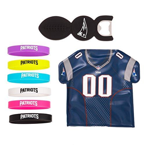 new product 4c47f b6497 New England Patriots abridor de botella, botella marcadores y congelador  Jersey Set