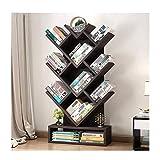 DGLIYJ EIN bodenstehendes Bücherregal in Form eines Baums (Farbe : SCHWARZ)