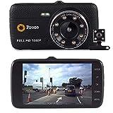 Proze Dashcam 4.0 Caméra de Voiture avant Arrière Full HD Double Caméra