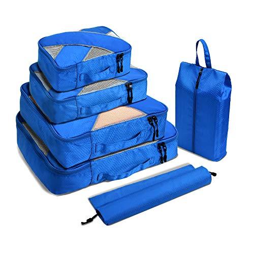 Verpackung Cubes Reisegepäck Koffer Verpackung Organisatoren Wasserdichte Nylon Kompressionsbeutel Reise Kleidung Aufbewahrungsbeutel für Männer und Frauen -