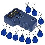 KKmoon - Grabador, copiador, duplicador de tarjetas RFID portátil de 125 KHZ + 5 piezas para grabar llaves de tarjeta EM4305
