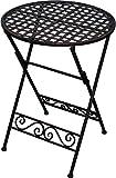 Beistelltisch Metall braun H 59 cm Klapptisch Gartentisch Metalltisch Deko-Tisch