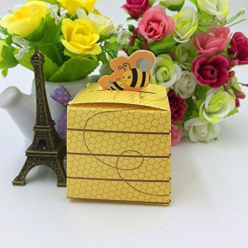 sorive® 50PCS Honey Bee Baby Dusche Candy Box, Geburtstag Dekorationen Kinder, Geschenke Box, Bee Hochzeit Favor Box, Hochzeit Dekoration