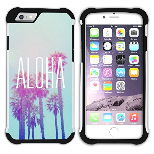 Graphic4You Hawaiisch Hawaii Postkarte Hart + Weiche Kratzfeste Hülle Case Schale Tasche Schutzhülle für Apple iPhone 6 Plus / 6S Plus Design #19