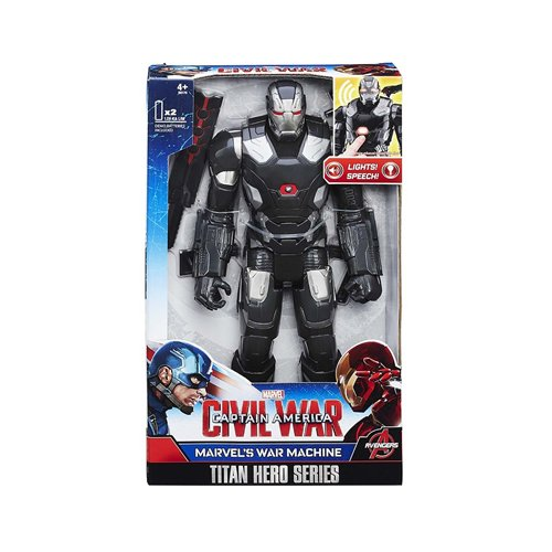 Hasbro B6179 - The first avenger - Civil War - Titan hero - 28 cm of the action figure - The war machine with light and sound effect (English language)