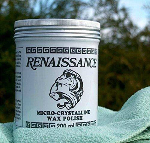 Renaissance Mikrokristallines Wachs, 200ml + GRATIS Mikrofaser-Reinigungstuch