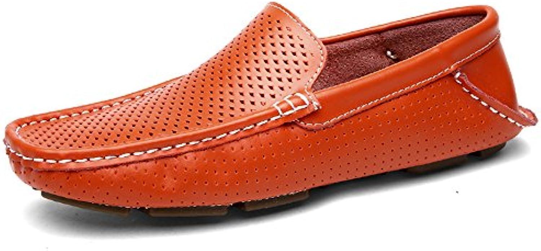 2018 Mocasines Zapatos para Hombre Conducción de los Hombres Penny Loafers Hollow Vamp Slip-on Plana Suave Suela...