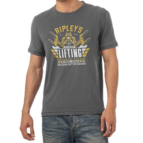 TEXLAB - Ripley's Power Lifting - Herren T-Shirt Grau