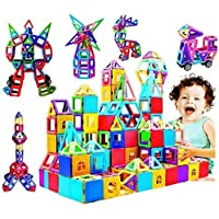 infinitoo Magnetic Building Blocks, Magnetic Building Tiles, 146 Piece Magnetic Shapes, ABS Safety Plastic, Instruction Booklet Included, Construction Toys Educational Toys for Toddlers & Kids