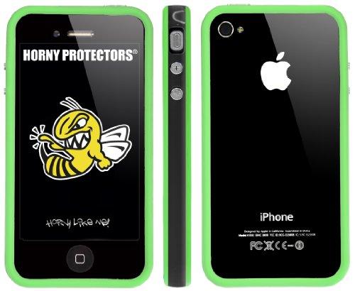 Horny Protectors Bumper avec boutons en métal pour Apple iPhone 4(non 4S) noir/vert