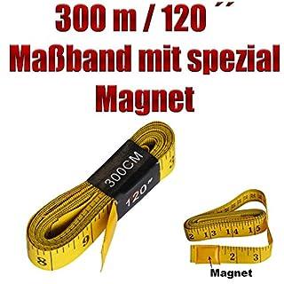 3 m / 120 Zoll Maßband mit 3 Magnete - Auto Folierung - Vollfolierung