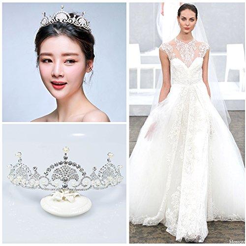 Die Braut, Kopfschmuck, Schmuck, Krone, Krone Prinzessin Hochzeit Haarspangen, Schmuck, Hochzeit Zubehör, eine (Prinzessin Ariel Kostüm)
