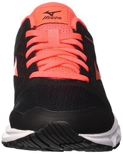 Mizuno Synchro MD W, Scarpe da Corsa Donna Multicolore (Black/Fierycoral)