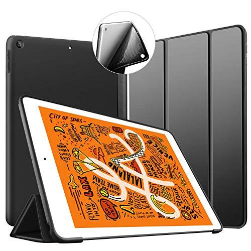 VAGHVEO Hülle für iPad Mini 5 2019 7.9 Zoll, Ultradünne Smart Cover Flexibler weicher TPU Rückschale mit Auto Schlaf/Aufwach Funktion Cases Faltbar Schutzhülle für Apple iPad Mini 5 7.9