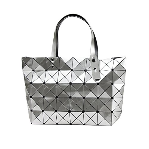 Sacchetto Di Spalla Di Cuoio Dell'unità Di Elaborazione Di Modo Delle Donne Womens Fashion Lattice Totes Silver