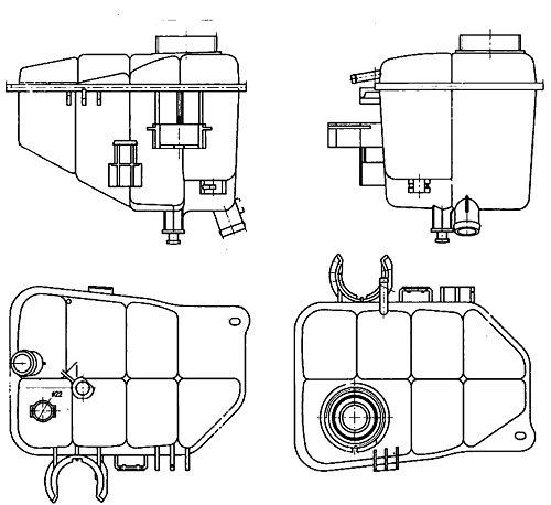 Preisvergleich Produktbild BEHR HELLA SERVICE 8MA 376 755-221 Ausgleichsbehälter,  Kühlmittel