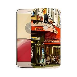 Snoogg Paris Cade Designer Protective Phone Back Case Cover For Motorola Moto M
