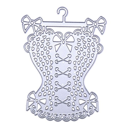 Xmiral Fustelle per Scrapbooking per Carta Cutting Dies Metallo Fustella Stencil #19032702K, Accessori per Big Shot e Altre Macchina(B)