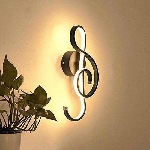 Wandleuchten Aluminium 22W LED Wandleuchte Hinweis Form Lampe Für Wohnen/Esszimmer / Schlafzimmer/Studie / Café 14 * 37cm